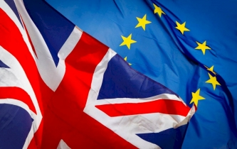 UK and EU flag image